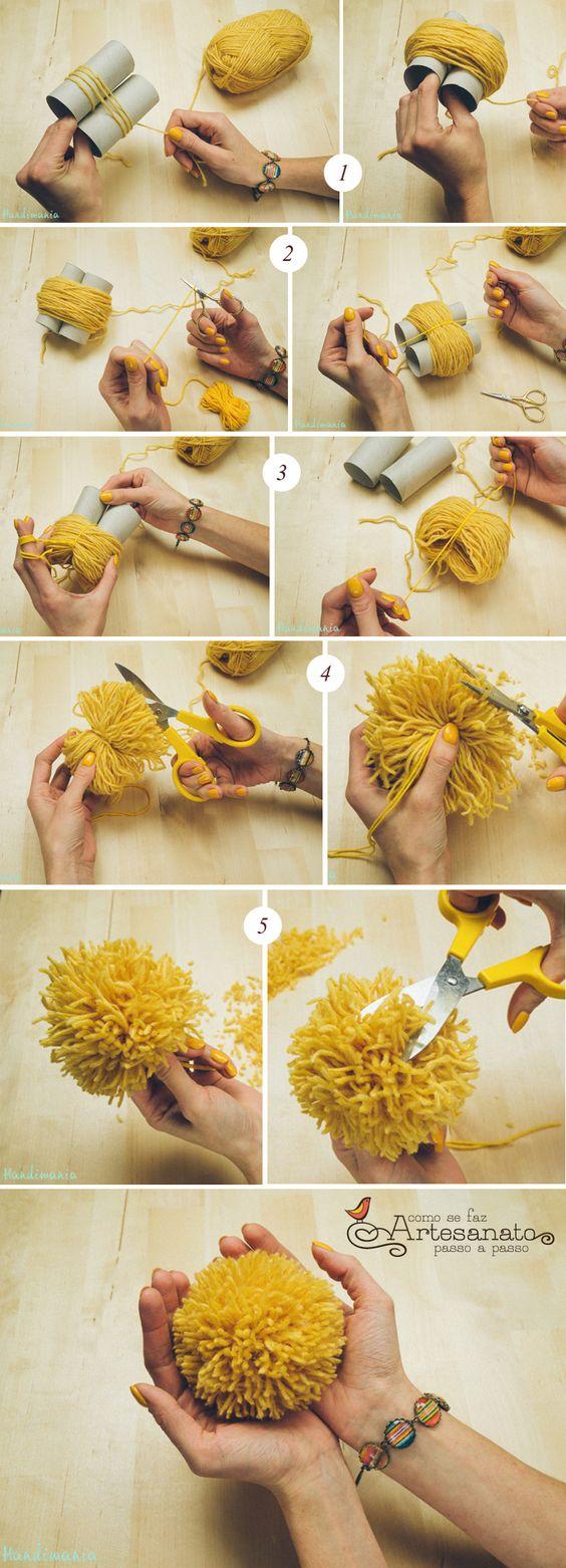 как сделать помпон из ниток своими руками