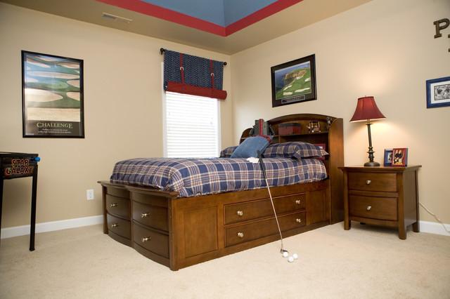 Спальня подростка любящего гольф