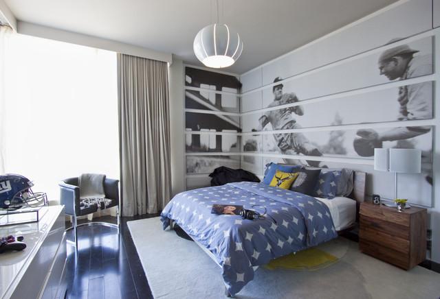 Красивая комната для подростка с окнами до пола