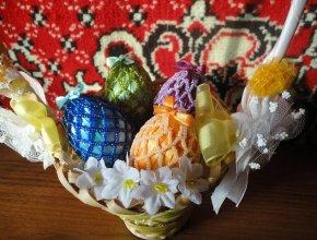Схемы оплетения пасхального яйца бисером